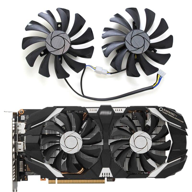 2 pièces/ensemble GTX 1060 P016 85mm VGA refroidisseur ventilateur pour MSI GeForce GTX1060-6GT-OC INNO3D GTX 1060 6GB vidéo carte graphique ventilateur de refroidissement