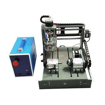 LY DIY máquina de grabado CNC 2030 2 en 1 4 eje mini torno para madera metal piedra