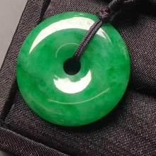 Fashion Jewelry Necklace Jade Pendant Hand-Carved Chinese Lucky Green Natural Wholesale