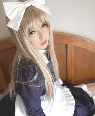 Axis Powers Light Blonde Synthetic Women s font b Cosplay b font Wig for Halloween