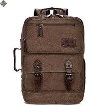 Leisure Business Canvas Backpack Large Capacity Women Men Laptop Backpack Multifunctional School Backpack Travel Backpacks