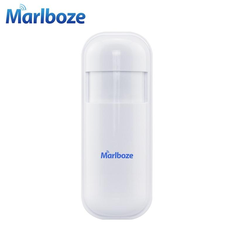 Marlboze 1Pcs 433MHz Wireless PIR Motion Detect Sensor Smart Infrared detector for Home Security WIFI GSM 3G GPRS Alarm system