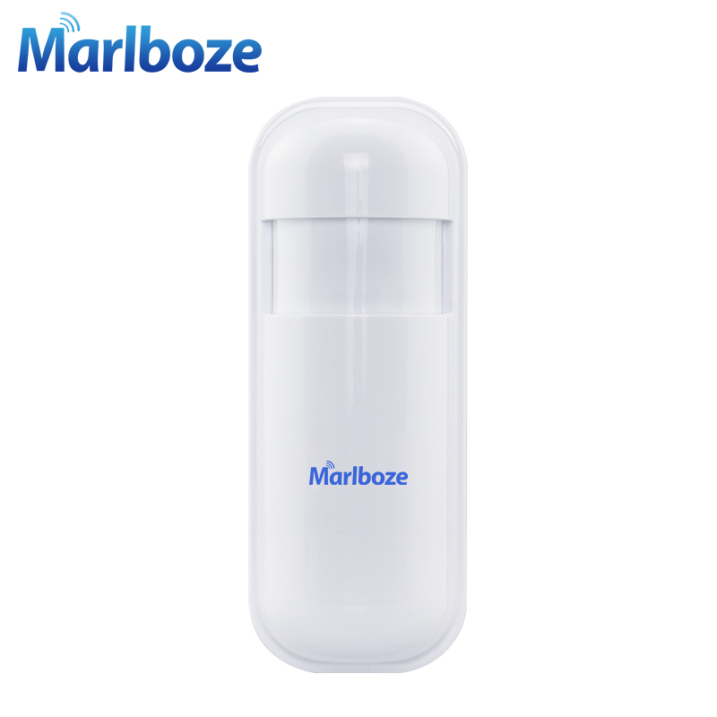 Marlboze 1Pcs 433MHz Wireless PIR Motion Detect Sensor Smart Infrared detector for Home Security WIFI GSM 3G GPRS Alarm system