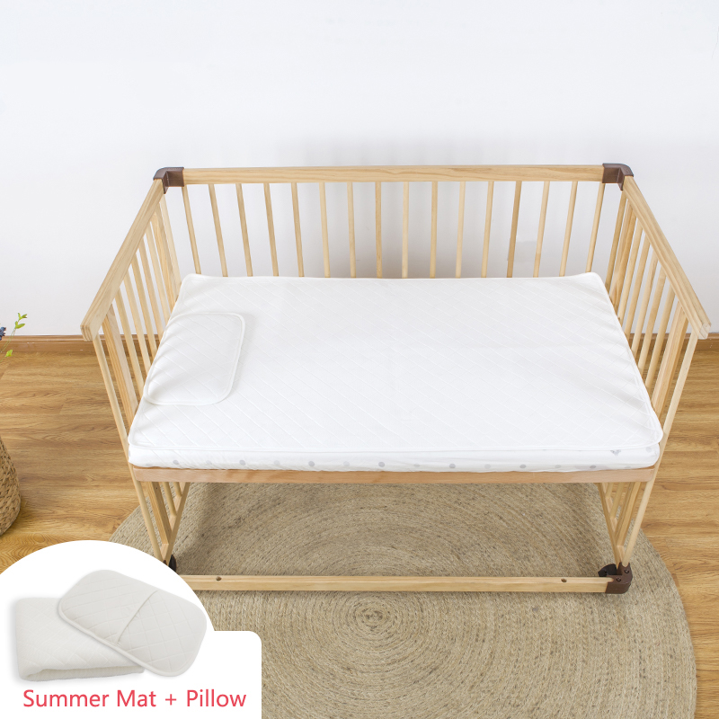 HOUSBAY Baby Summer Sleeping Set (Sleeping Mat & Pillow), Breathable Cooling Fabric Bed-mat for Summer Baby Room with Gift BoxHOUSBAY Baby Summer Sleeping Set (Sleeping Mat & Pillow), Breathable Cooling Fabric Bed-mat for Summer Baby Room with Gift Box