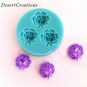 Soap Mold Cutter Modelling-Tools Chocolate Fondant-Cake-Cookie Rose-Flowers 3D Random-Color