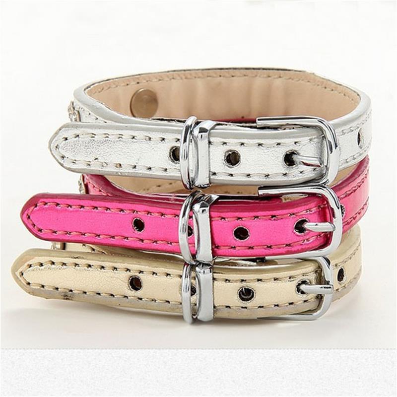 Envío gratis productos para mascotas chicdog perro collares rhinestones de la ma