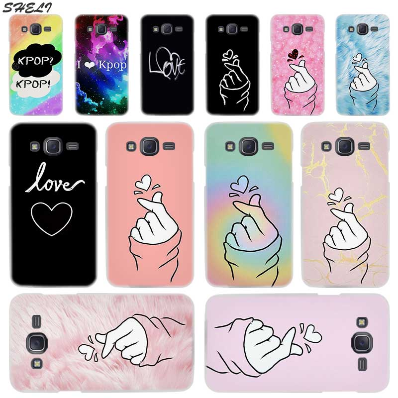 Sheli Black White Love kpop Hard Phone Case for Samsung J7 J3 J5 Prime J3 J8 J2 J7 J5 J6 2015 2016 2017 2018 J2 Pro Ace Plus image