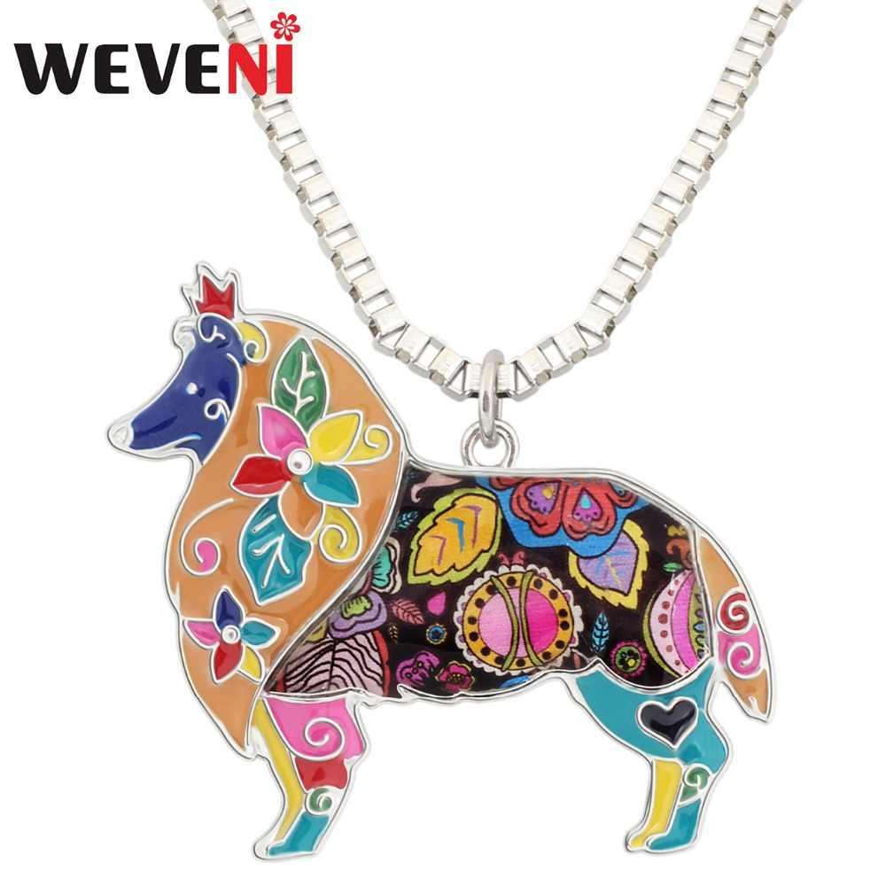 WEVENI эмалированная Цветочная окантовка подвеска для ожерелья собак ошейник