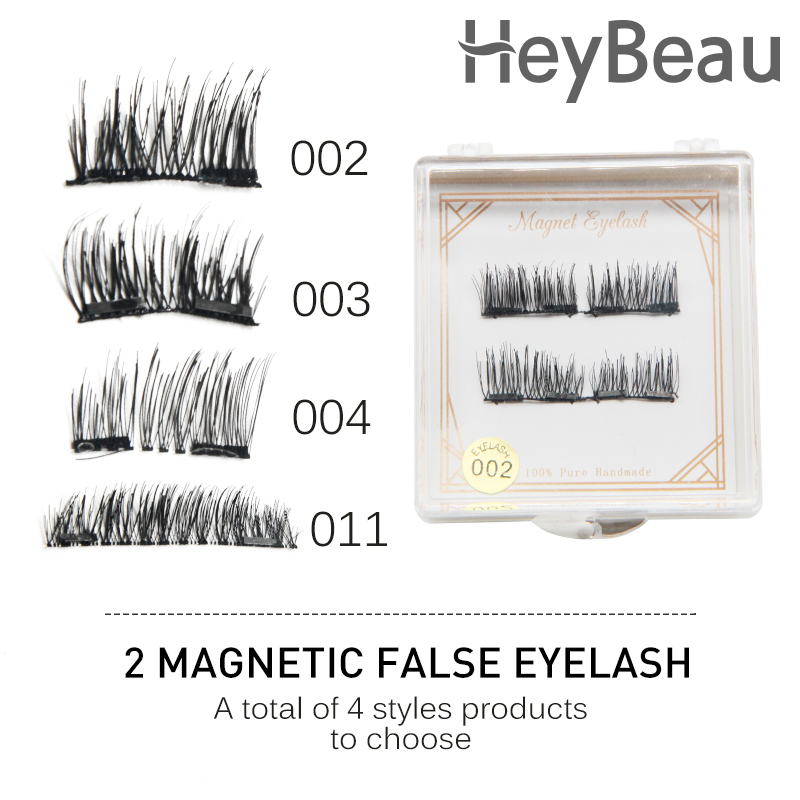 Natural False Eyelash Double Magnet Full Strip Magnetic Lashes eyelash extensions tools 3D Magnetic Eyelash Soft Hair Reusable