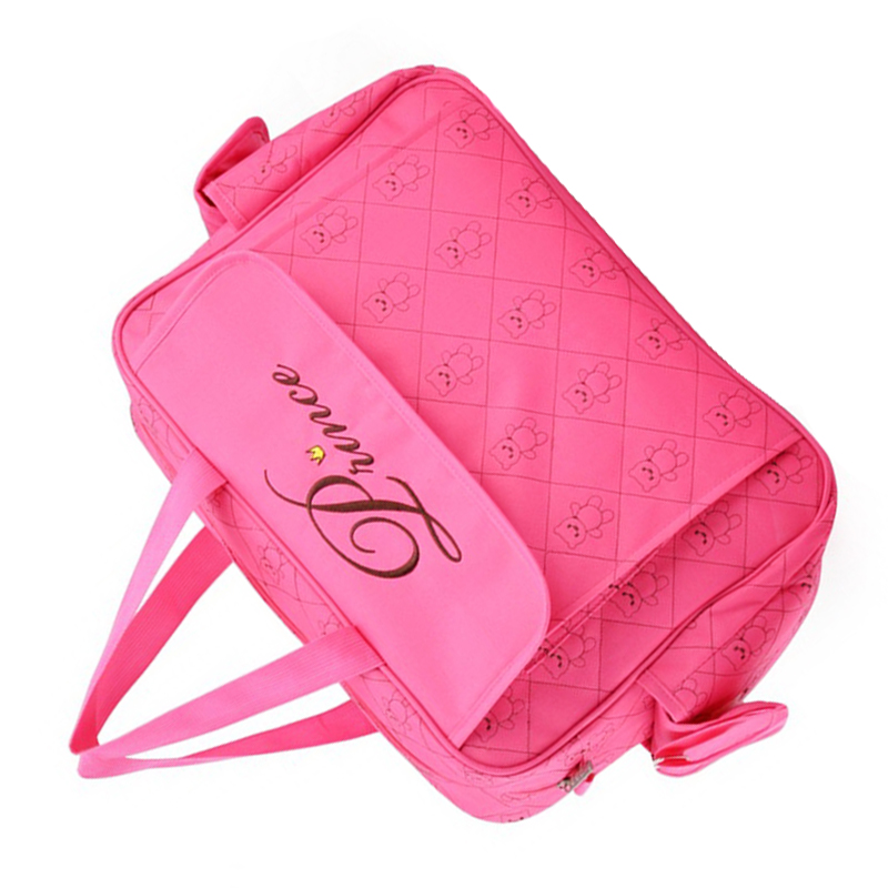 insular Classic Waterproof Nylon Baby Diaper Bag Stylish Mommy Bag Changing Bag Rose red