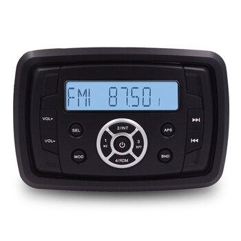 Quadrado à prova dwaterproof água marinha rádio estéreo barco áudio sistema de som bluetooth fm am usb mp3 player para spa carro motocicleta atv utv