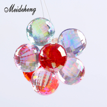 13*18mm Acrylic Disco transparent bead Fashion Design Jewelry accessories AB color hanging hole section earth