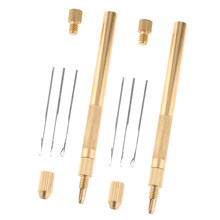 Aluminum Crochet Hook Needles Kit For Beads Ring Dreadlock Lace Wig Making, Set Of 2(China)