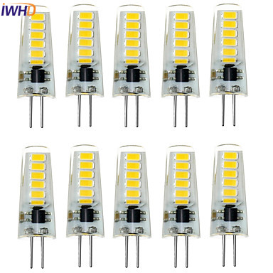 IWHD <font><b>10</b></font> <font><b>pcs</b></font> New <font><b>G4</b></font> LED 12V Bulb SMD5733 1.5W 120LM Waterproof LED Bi-pin Lights replace Halogen Spotlight Chandelier image