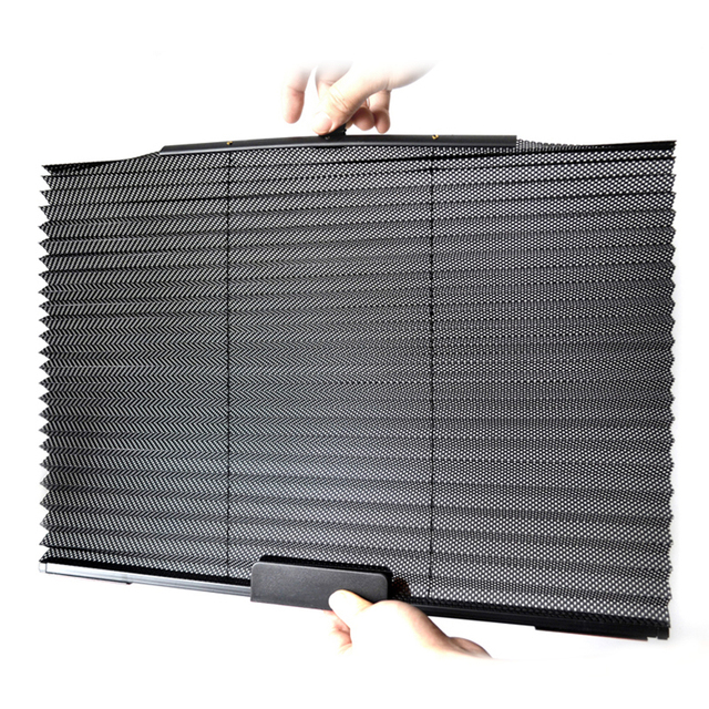 Car Sunshade Blinds Retractable Curtains UV Protection Cover Side Window Sun Visor Auto Sun Shade 60*46CM 1