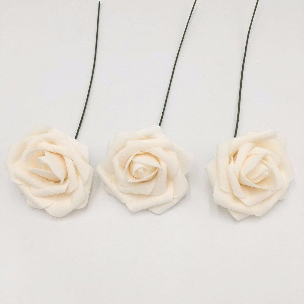 100PCS Blush Roses Flowers Fake Foam Roses Blush Pink Wedding ...