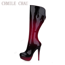 2016 Winter Sexy Party Shoes Women Stiletto High Heels Ladies Knee-High Boots Zapatos Mujer 3463bt-q4 2016 winter sexy party shoes women stiletto high heels ladies knee high boots zapatos mujer 3463bt q3