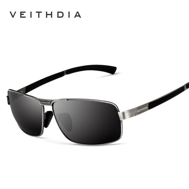 VEITHDIA, с оригинальным чехлом, поляризационные солнцезащитные очки для мужчин, фирменный дизайн, винтажные мужские солнцезащитные очки, gafas oculos de sol masculino 2490
