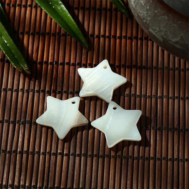 10pcs/lot 12mm 15mm 18mm white natural freshwater sea shell beads for jewelry making DIY star beads for earrings necklace craft