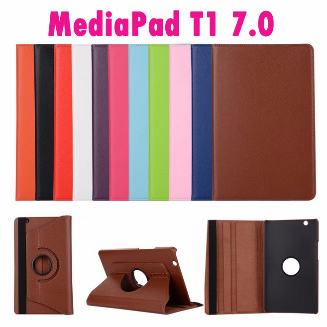 For Huawei Mediapad T1 7.0 T1-701u 7.0inch Tablet Flip Pu Leather 360 Degree Rotating Case Stand Cover mediapad m3 lite 8 0 skin ultra slim cartoon stand pu leather case cover for huawei mediapad m3 lite 8 0 cpn w09 cpn al00 8