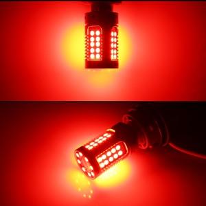 Image 5 - IJDM P21W LED 赤 Canbus Obc なしハイパーフラッシュ 1156 PY21W Bau15s LED フロントリアターンシグナルライト、テールライト、ブレーキライト