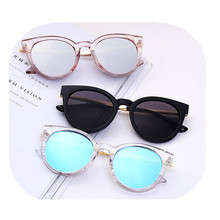 New Fashion Trend Transparent Round Frame Sunglasses Semi-metal Temple Multi-color Optional Retro Dureable