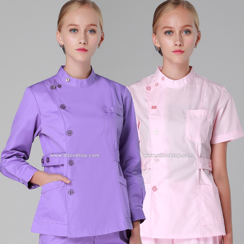 Medical suit spa beauty salon uniform design nursing scrub for Uniform design for spa