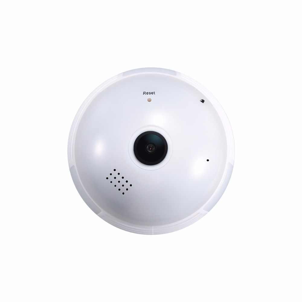 Escam QP136 HD 960P 1.3MP E27 caméra IP WIFI 360 degrés panoramique H.264 caméra de sécurité à détection de mouvement intérieure infrarouge