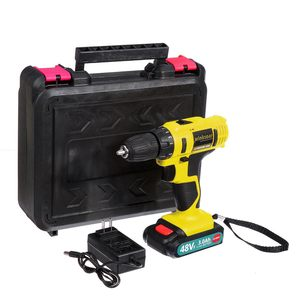 Image 4 - Destornillador eléctrico inalámbrico de 48V f, Taladro Inalámbrico, batería de ion de litio, taladro recargable de mano, controlador de potencia de impacto, iluminación LED
