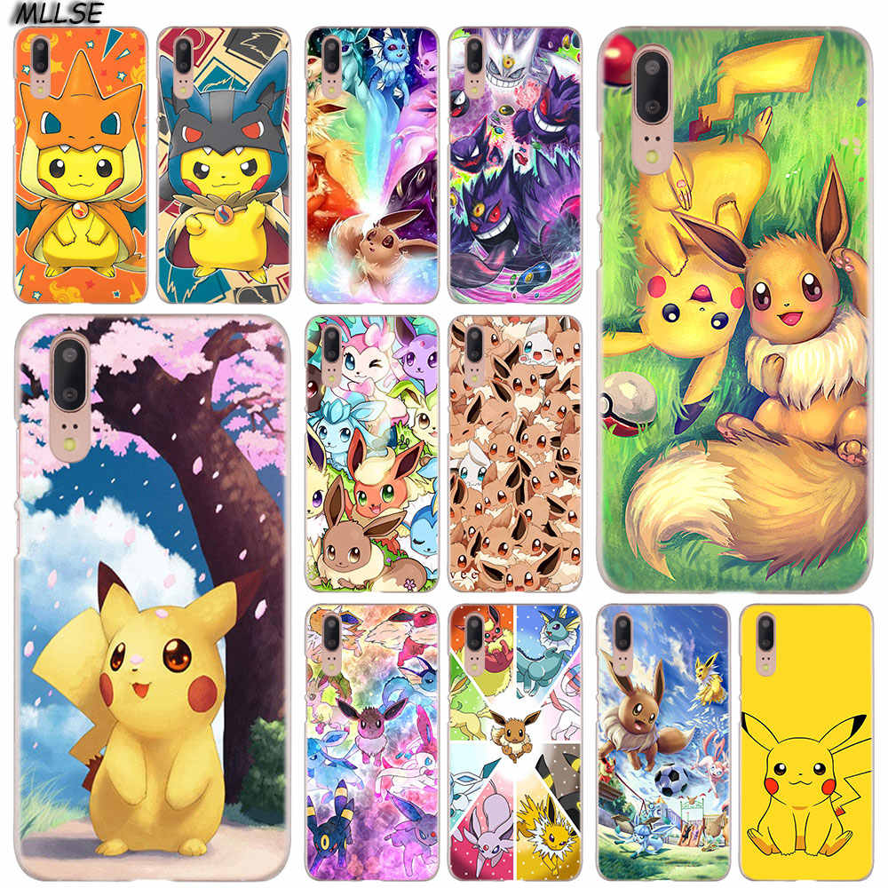 MLLSE Cartoon pokemons eevee pika Fashion Case Cover for Huawei P30 P20 P10 P9 P8 Lite 2017 P30 P20 Pro Mini P Smart Plus Cover