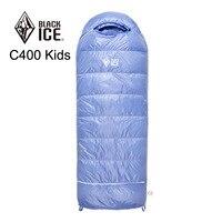 Blackice C400 Children Single 135 155cm Adjustable Length Envelope Ultra Light Down Sleeping Bag with Free Compression Bag