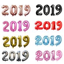 30 zestawów 40 cal malowanie przez numery 2019 balony foliowe szczęśliwego nowego roku sylwestra strony cyfrowy balon helem ślubne wystrój lin4231 tanie tanio Ballon Folia aluminiowa CHRISTMAS Party New Year 30 sztuk