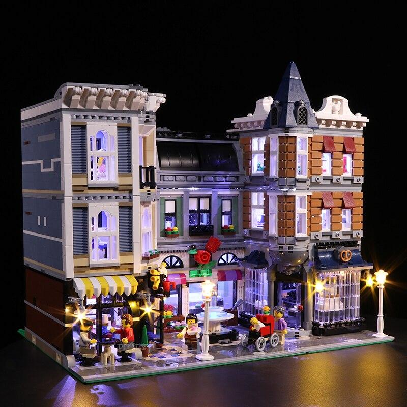 ไฟ led สำหรับเลโก้ 10255 Building Blocks Creator City Street Assembly Square ของเล่นเข้ากันได้กับ 15019 (แบตเตอรี่กล่อง)-ใน บล็อก จาก ของเล่นและงานอดิเรก บน   2