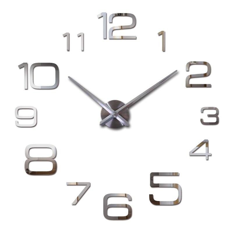 2019 New Quartz Watch Wall Clock Acrylic Mirror 3d Clocks Horloge Murale Reloj Pared Digital Living Room Europe