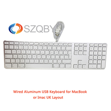 Aluminum Wired USB A1243 Keyboard with 10 Key Numeric Keypad MB110LL/A for All iMac or MacBook Pro with USB ports