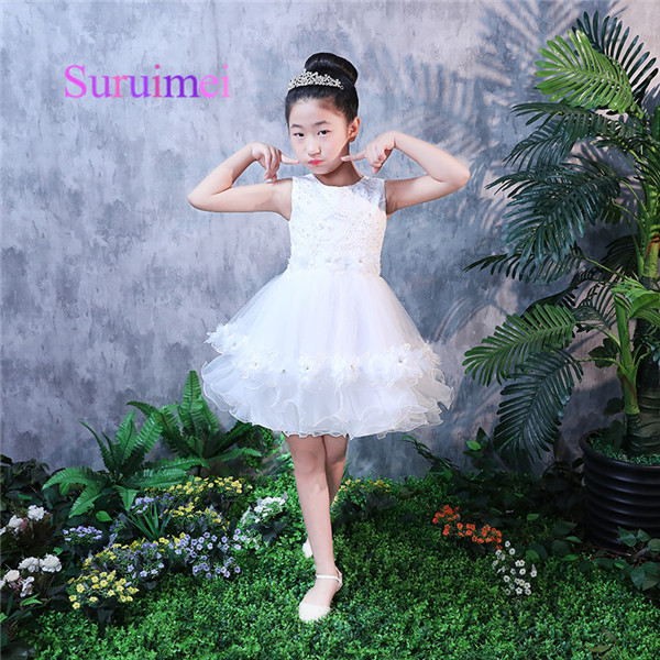 d7ac25f18 Simple 2019 Hot Sale Scoop Flower Girl Dresses With Sleeveless A-line Lace  Flowers Knee