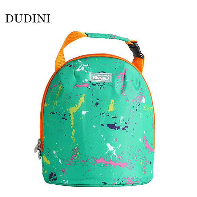 DUDINI Fashion Multifunction Lunch Bags For Women Oxford Cloth Small Zipper Picnic Bag Portable Waterproof Insulation Package