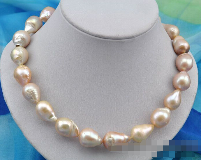 FREE SHIPPING>>>@@ > 0675 baroque pink reborn keshi pearl necklaceFREE SHIPPING>>>@@ > 0675 baroque pink reborn keshi pearl necklace