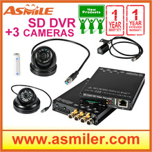 3G 1080P HD 4ch Mobile DVR with Wifi GPS for School Bus/ car + 3pcs 1080p camera
