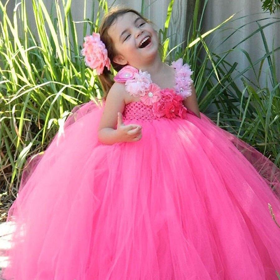 ツ)_/¯Muchacha de los niños infantiles del tutú con la flor pelo ...