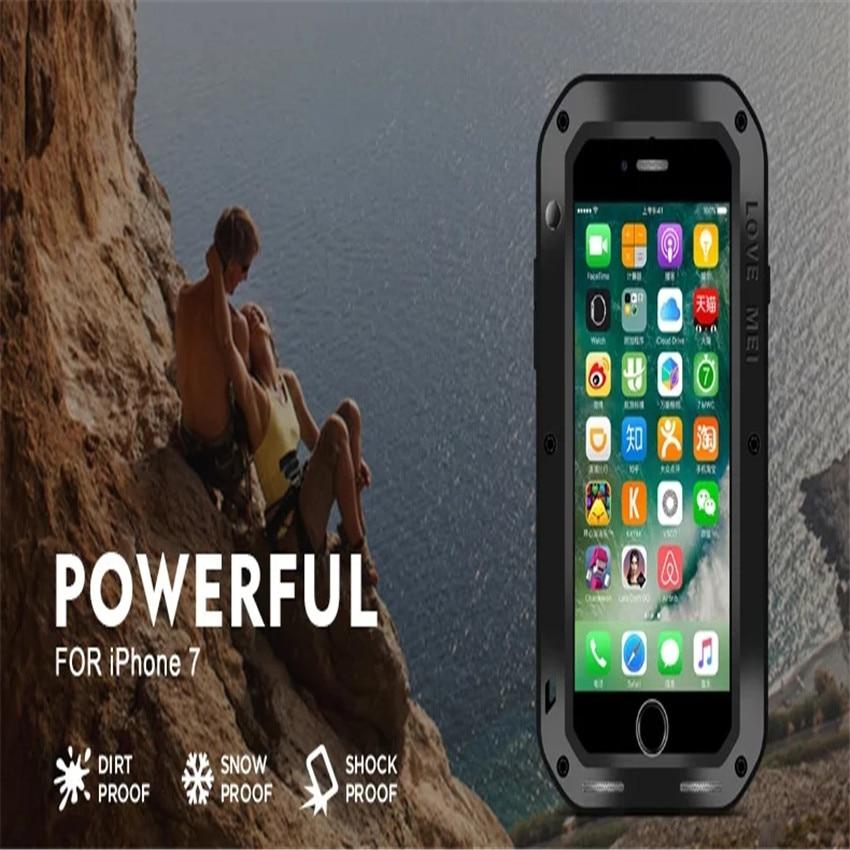 bilder für LIEBE MEI Für iphone7 plus Extreme Leistungsstarke leben Wasserdicht Dropproof Metallkasten Für iphone 7 4,7/5,5 zoll