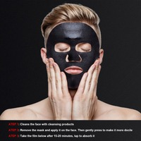 Male Moisturizing Mask Hydrating Control Oil Remove Blackheads Pimples Bamboo Charcoal Black Mask