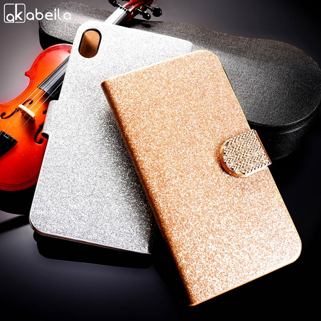 AKABEILA PU Leather Flip Mobile Phone Cover For Lenovo Vibe Shot Z90 Z90-7 Z90a40 Z90-3 Vibe Max Wallet Case Glitter Holster