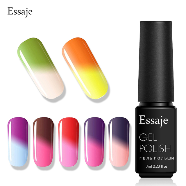 Essaje Gel 7ml Nail Polish Temperature Color Changing Thermal Change Uv