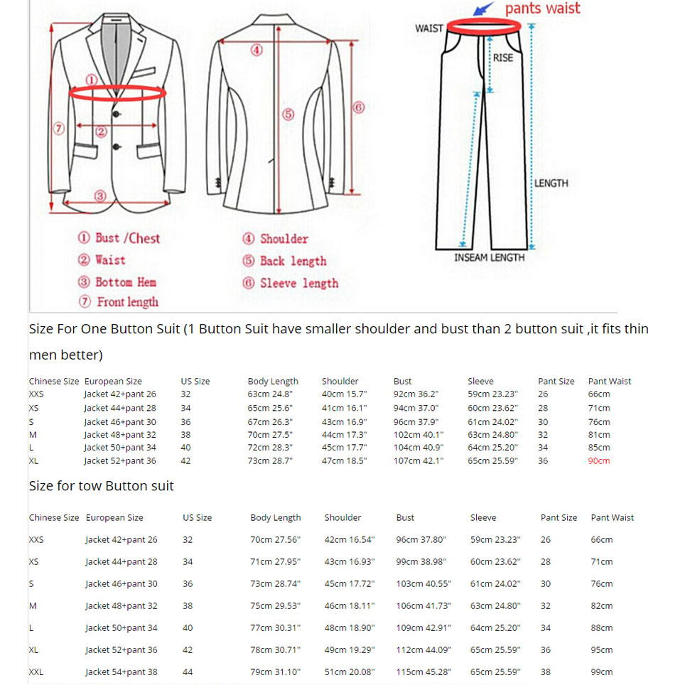 (Vestes + pantalons) 2016 nouveaux hommes costumes Slim personnalisé Fit smoking marque de mode Bridegroon entreprise robe de mariée costumes Blazer H0285 - 6