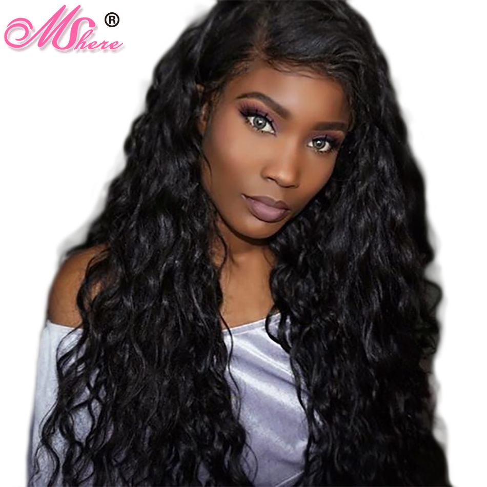 MShere Human Hair Peruvian Water Wave Hair Weave Bundle