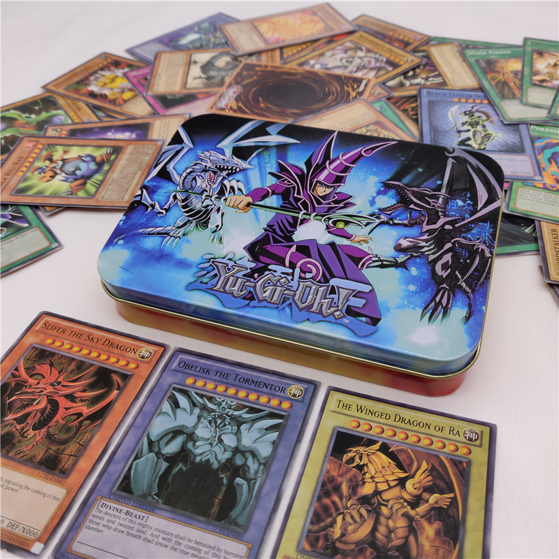 NEW English Version 66PCS 190g Duel Monsters YU GI OH Game Collection Carte Trading Cards Game With Beautiful Iron Box(China)