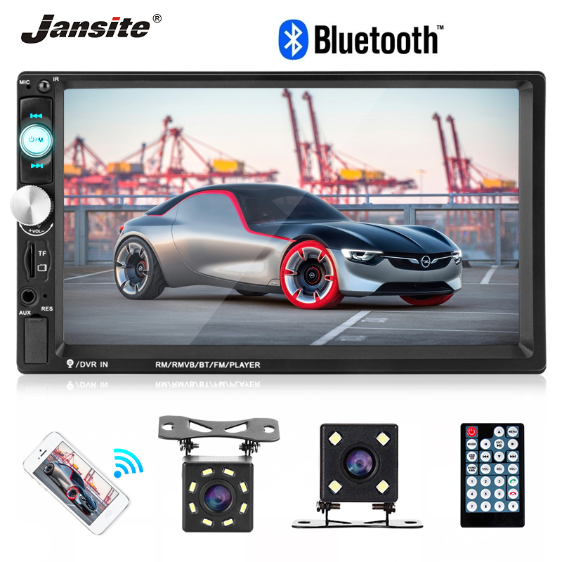 Jansite 2 din 7 HD Touch Screen Car Radio Parking assist system multimedia MP5 player video