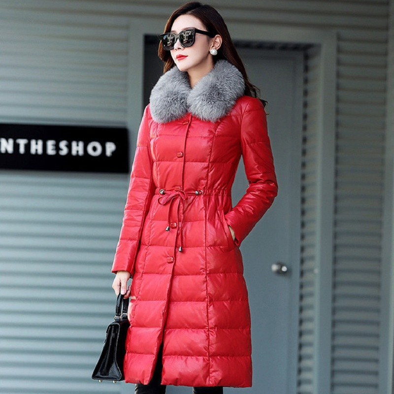 new winter women's down jacket women's parkas Sheepskin and white duck down clothing pregnancy women clothing parkas 980 2017 europe and the united states winter new style white duck down parkas thick in the long hooded quilt down jacket women