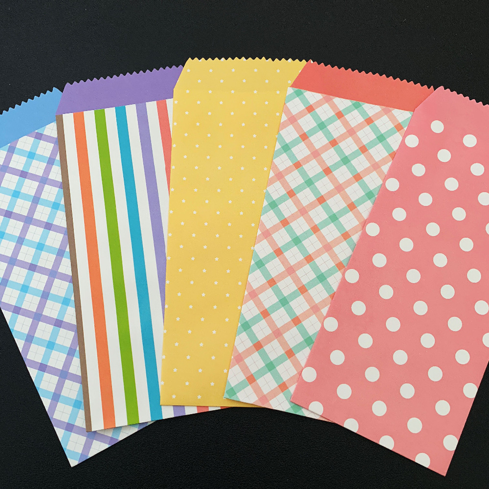 10X Cute Sweet Dots Stripe Grid Star Heart Fresh Paper Envelope Creative DIY Tool Greeting Cover Gift